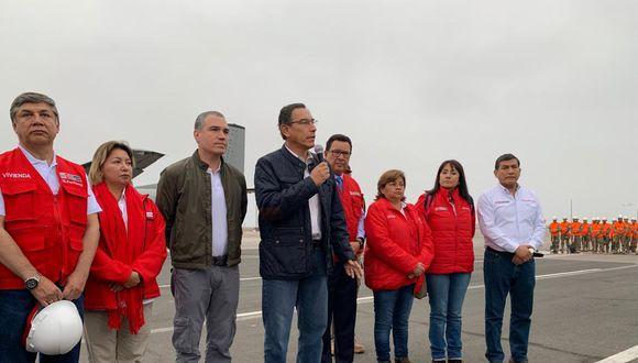 El presidente Martín Vizcarra indicó que se están tomando las medidas para atender a las personas que lo necesitan. (Foto: Presidencia)