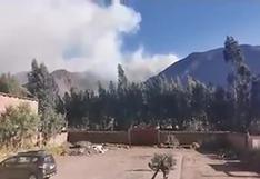 Cusco: incendio forestal amenaza sitio arqueológico de Huchuy Qosqo en Valle Sagrado de los Incas   VIDEO
