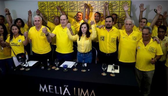 Solidaridad Nacional no pasó la valla del 5% establecida por el Jurado Nacional de Elecciones en los últimos comicios congresales (Foto: GEC)