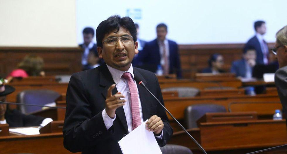 Oracio Pacori fue elegido para presidir la comisión de Vivienda por el Nuevo Perú. (Foto: GEC)