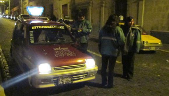 Arequipa: desde hoy multarán a taxistas informales en el centro