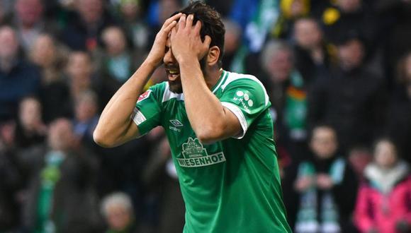 Claudio Pizarro, futbolista peruano de 41 años que pertenece al Werder Bremen. (Foto: AFP)