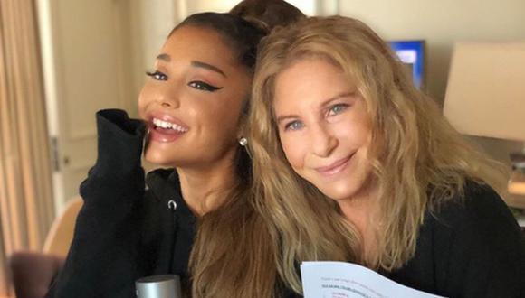 Ariana Grande vivió una de las mejores experiencias de su vida al cantar a dúo con Barbra Streisand | Foto: @barbrastreisand