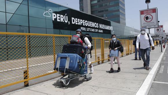 Según estimó el MTC, se espera que 55.939 pasajeros salgan o lleguen al Perú mediante vuelos internacionales, del 1 al 10 de noviembre. (Foto: Leandro Britto / GEC)