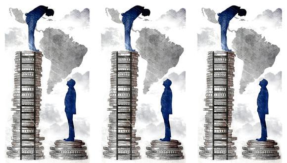 """""""El crecimiento y la inclusión no son objetivos contrapuestos, sino que se refuerzan mutuamente"""". (Ilustración: Rolando Pinillos Romero)."""