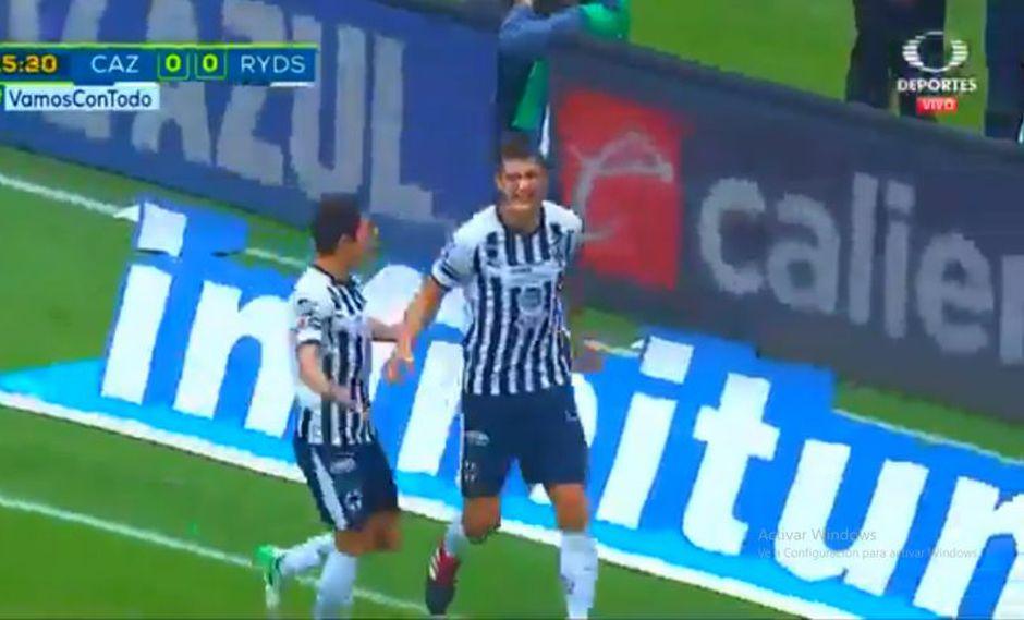 Cruz Azul se midió ante Monterrey por la jornada 12 de la Liga MX. Cesar Montes fue el autor del 1-0 parcial para los 'Rayados' (Foto: captura de pantalla)