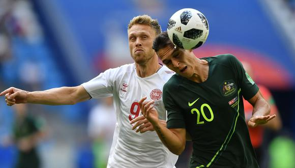 Dinamarca y Australia se enfrentan HOY (EN VIVO ONLINE vía DirecTV Sports / Bein Sports), por la segunda fecha del Grupo C de Rusia 2018. (Foto: AFP)