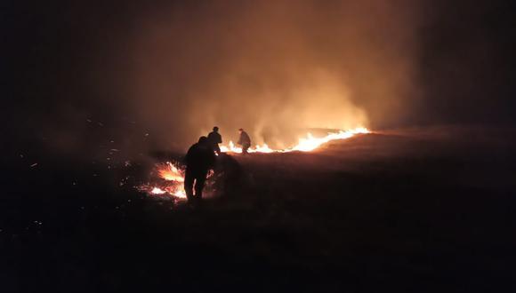 Incendio forestal afectó bosques de eucalipto y 10 hectáreas de pastos en Áncash. (Foto: COER Áncash)