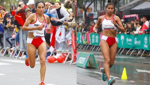 Gladys Tejeda y KImberly García, maratonista y marchista que buscarán la gloria en Tokio 2020. (Foto: Legado Lima 2019)