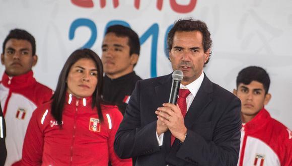 El dirigente chileno considera que Lima 2019 está caminando dentro de los plazos establecidos. Poner la primera piedra de la Villa Panamericana era la prioridad para empezar a correr.  (Foto: AFP)