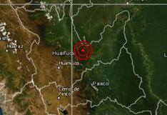 Huánuco: sismo de magnitud 4,0 se reportó en Codo del Pozuzo, señala IGP