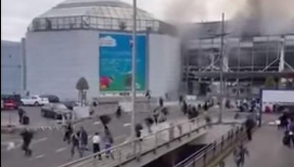 Atentados en Bélgica: Pánico en aeropuerto de Bruselas [VIDEO]