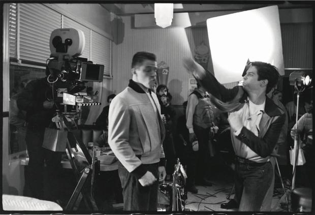 """Eric Stoltz and Thomas F. Wilson filming a scene from """"Return to the future"""".  Photo: BTTF.com"""
