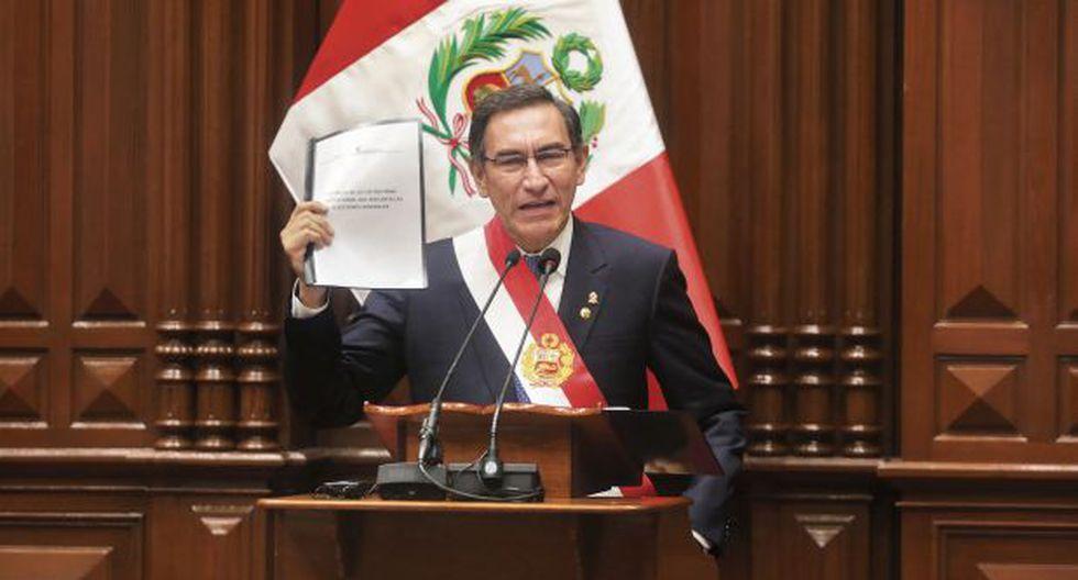 El presidente Martín Vizcarra hizo el anuncio en su mensaje a la nación por Fiestas Patrias. (Foto: Alonso Chero/ El Comercio)