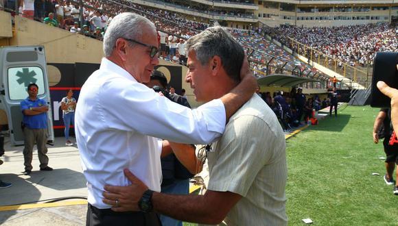Gregorio Pérez y Pablo Beingoechea fueron los técnicos de Universitario y Alianza Lima, respectivamente, en el inicio del 2020, pero tras la paralización por el COVID-19 no volvieron a sus cargos. (Fotos: Gonzalo Córdova/ GEC)