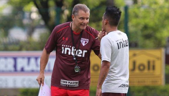 """Diego Aguirre, responsable técnico de Sao Paulo, calificó a Christian Cueva como """"un jugador con clase y de nivel"""". Espera que el peruano mantenga ese ritmo durante el transcurso liguero. (Foto: Lance)"""