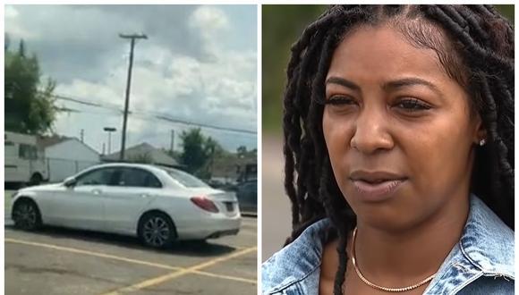 Bianca Chambers rastreó al ladrón de su coche y lo detiene en una barbería. (Foto: Facebook)