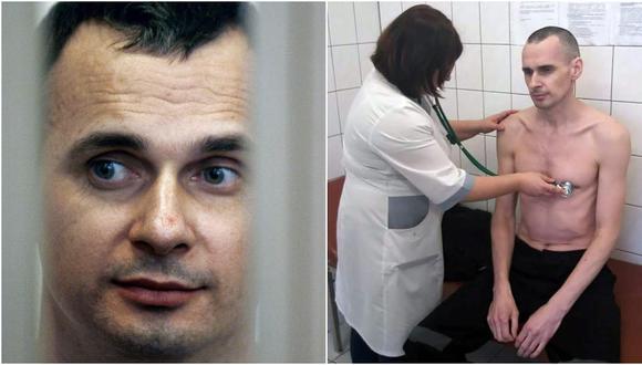 Oleg Sentsov dice que abandona huelga de hambre para no ser alimentado por la fuerza (Foto: AFP)