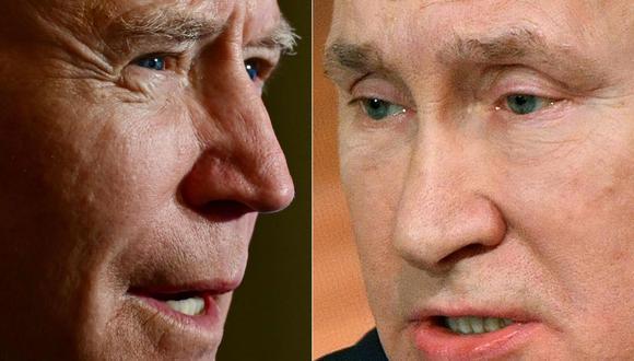 Joe Biden y Vladimir Putin hablaron por teléfono. (Foto: AFP).