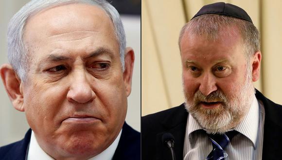 El fiscal general de Israel, Avijai Mandelblit (derecha), acusó a Benjamin Netanyahu de una serie de cargos de corrupción, anunció el ministerio de justicia del país. (Foto: AFP)