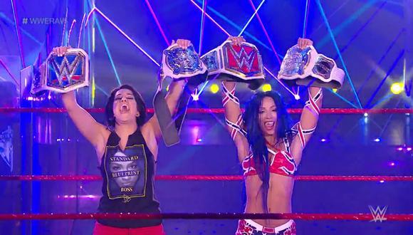 Sasha Banks se convirtió en nueva campeona de Raw tras abandono de Asuka que salió a defender a Kairi Sane del ataque de Bayley. (WWE)