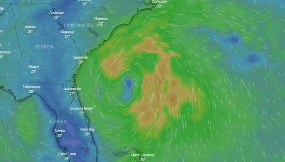 Tormenta tropical Arthur EN VIVO se fortalece rumbo a Carolina del Norte, Estados Unidos. (Windy).