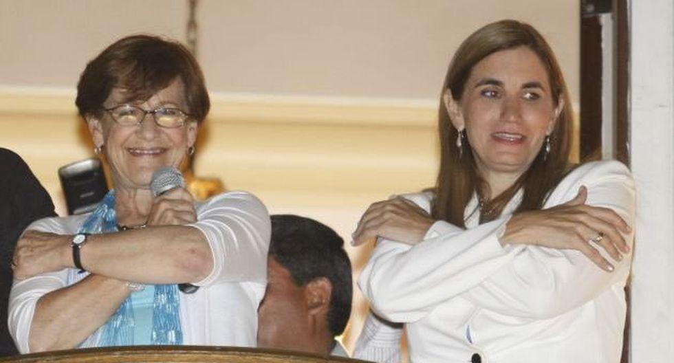 Anel Townsend y Susana Villarán