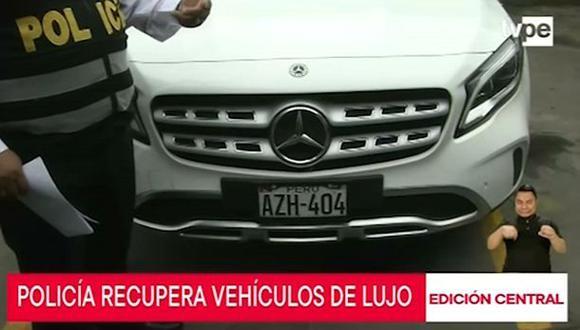 La Policía recuperó los vehículos tras un trabajo de investigación. (TV Perú)