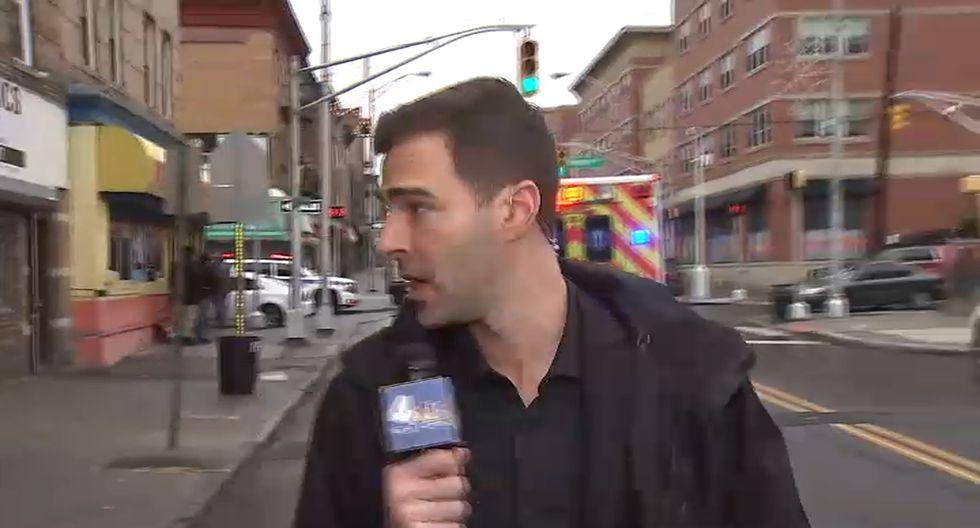 Kuperstein es reportero de la NBC de Nueva York: (Foto: Caputura NBC)