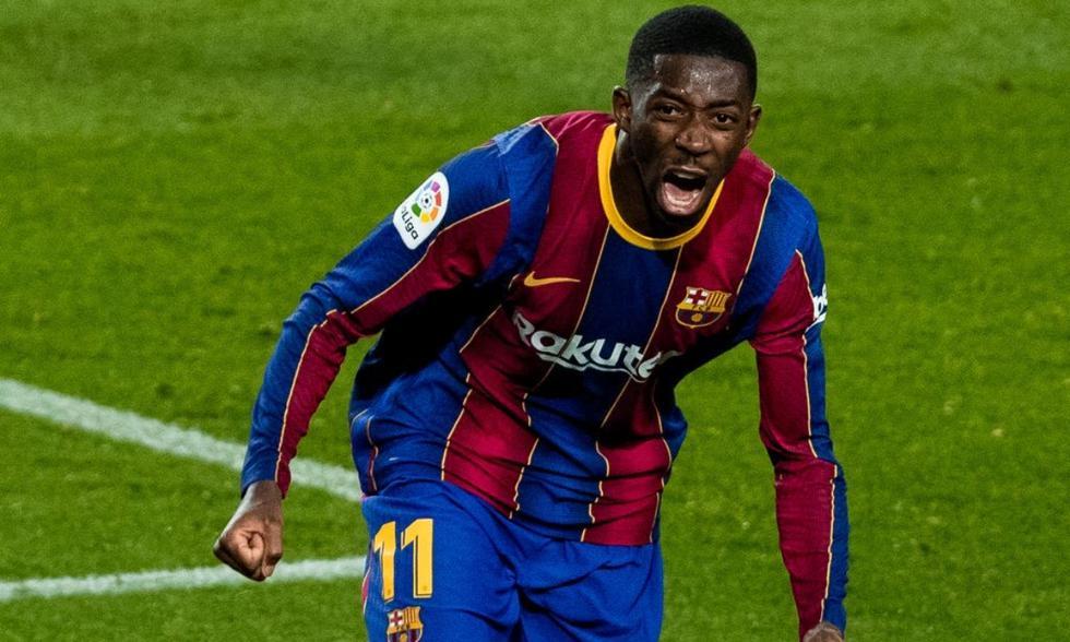 Barcelona venció a Valladolid con gol de Dembelé   Foto: AFP