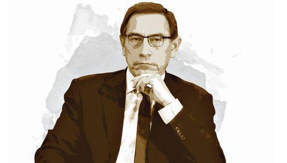 El presidente Martín Vizcarra ha sido citado para este lunes al pleno del Congreso. (Composición: El Comercio)