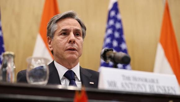 Antony Blinken, secretario de Estado estadounidense. (Foto: AFP)