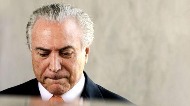 Michel Temer, expresidente de Brasil, también fue señalado de haber recibido dinero de Odebrecht para su campaña. (Foto: AFP)