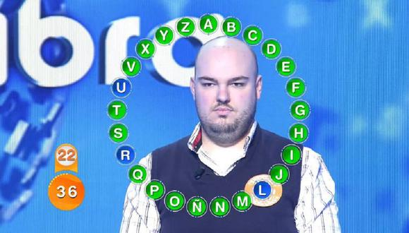 Fran González logró contestar correctamente las 25 preguntas de 'el rosco' de Pasapalabra (Foto: Telecinco)