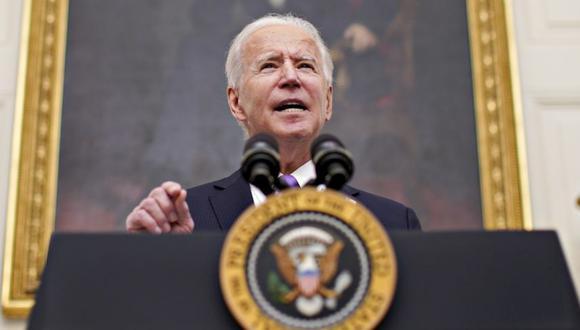 El presidente de Estados Unidos, Joe Biden, habla durante un evento sobre la respuesta Covid-19 de su administración en el Comedor Estatal de la Casa Blanca en Washington, DC, Estados Unidos. (Foto: Al Drago / Bloomberg).