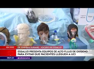 Essalud presenta equipos de alto flujo de oxígeno para pacientes covid-19