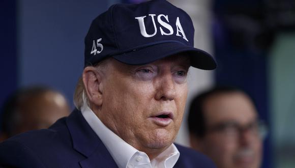Donald Trump habló sobre el coronavirus desde la Casa Blanca. (EFE/EPA/SHAWN THEW).
