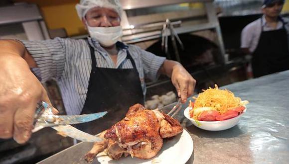 En el Perú se consumen 12,5 mlls. de pollos a la brasa al mes