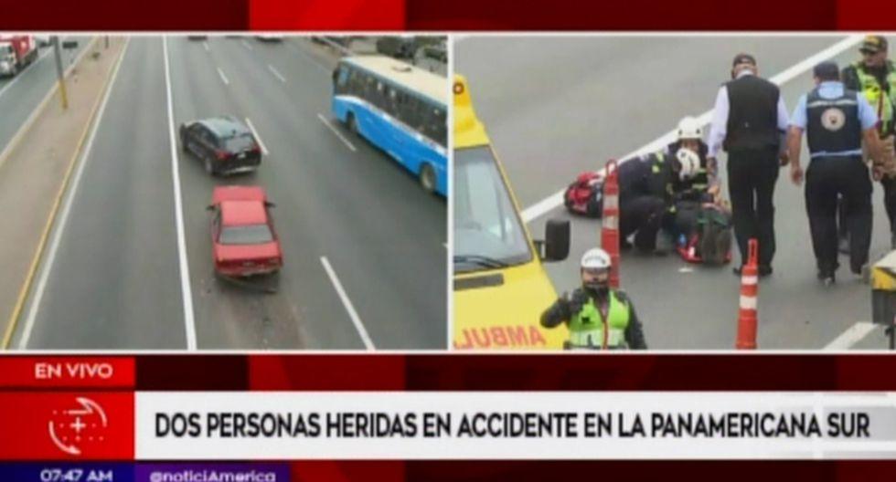 Coronel PNP Guillermo Llerena explicó que el despiste de la moto se produjo debido a los daños que dejó el triple choque.