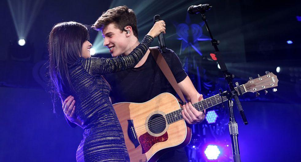 Shawn Mendes y Camila Cabello. (Foto: AFP)