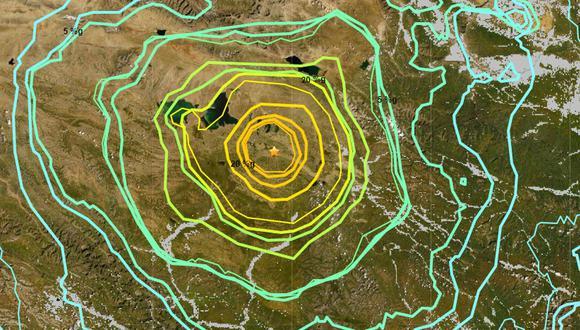 Terremoto de magnitud 7,4 sacudió a la provincia de Qinghai, China. (USGS)