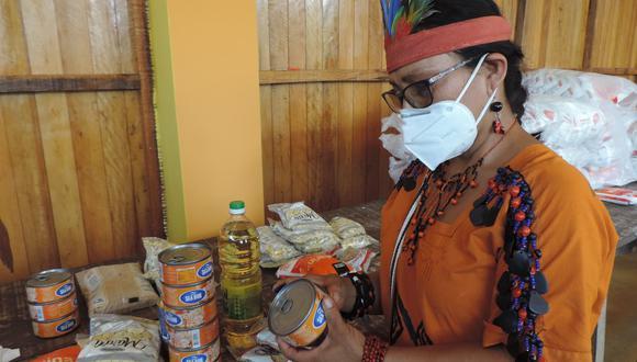 La entrega de alimentos a los pueblos indígenas u originarios se realiza en marco de la emergencia sanitaria por el COVID-19 (Foto: Ministerio de Cultura)