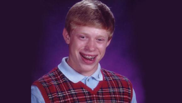 """Una fotografía escolar de Kyle Craven lo convirtió en el famoso meme """"Bad Luck Brian"""". (Foto: Captura)"""