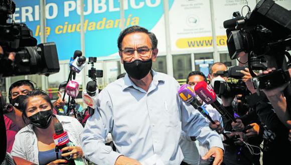 El expresidente Martín Vizcarra afronta varias denuncias constitucionales en su contra que podrían terminar con su inhabilitación política por diez años. (Foto: GEC)