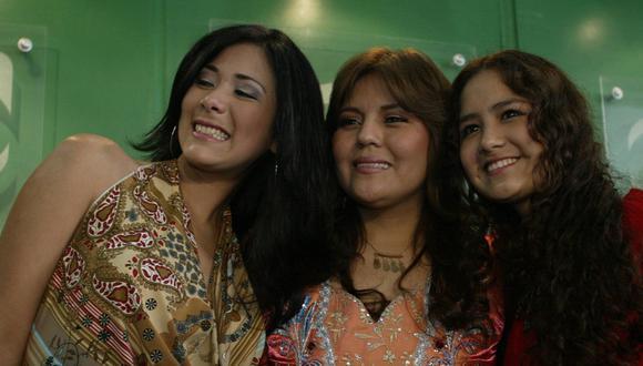 """Magdyel Ugaz, Dina Páucar y Mayella Lloclla, del elenco de """"Dina, la lucha por n sueño"""". (Foto: Consuelo Vargas/ GEC)"""