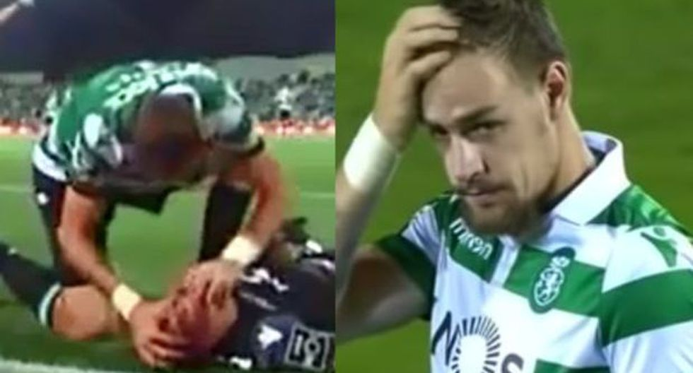 Sebastián Coates se vistió de héroe. (Video: YouTube)