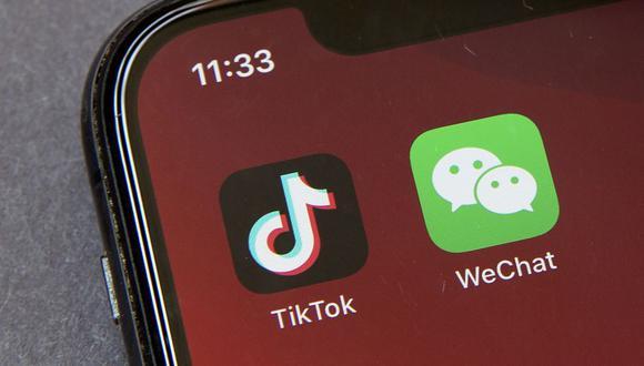 TikTok y WeChat, las apps que están en el ojo de la tormenta de las relaciones diplomáticas entre Estados Unidos y China. (Foto: AP)