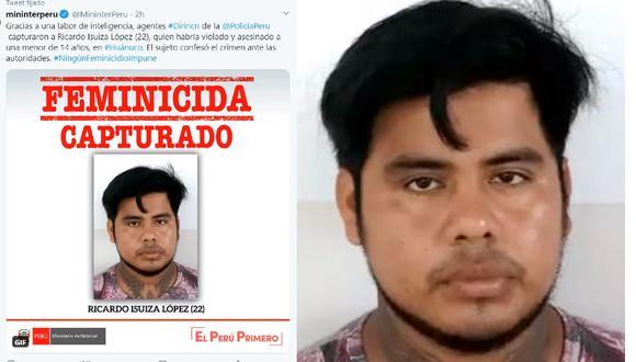 Huánuco. Policía captura a homicida en su casa cuando cumplía la cuarentena. (Mininter)