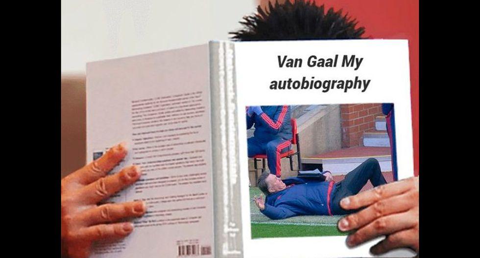 Twitter: se burlan de Van Gaal y su insólita caída [FOTOS] - 13