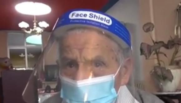 """""""No quiero ir al hospital porque seguro agarro la enfermedad"""", indicó José Rojas. (Foto: captura América Noticias)"""
